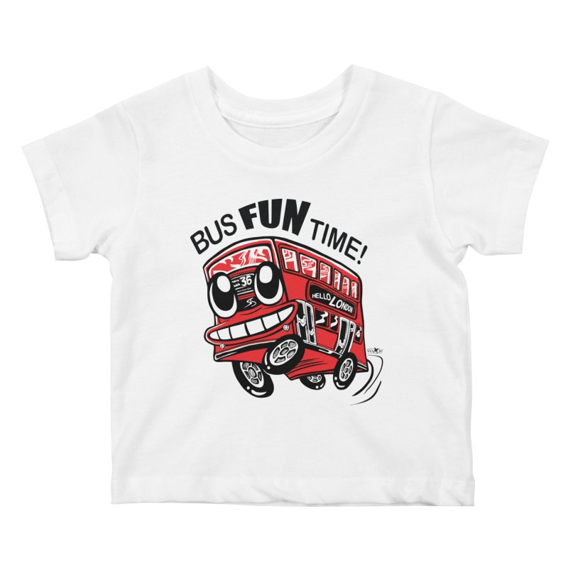 Bus Fun Time Kids Baby T-Shirt by voxie's Artist Shop