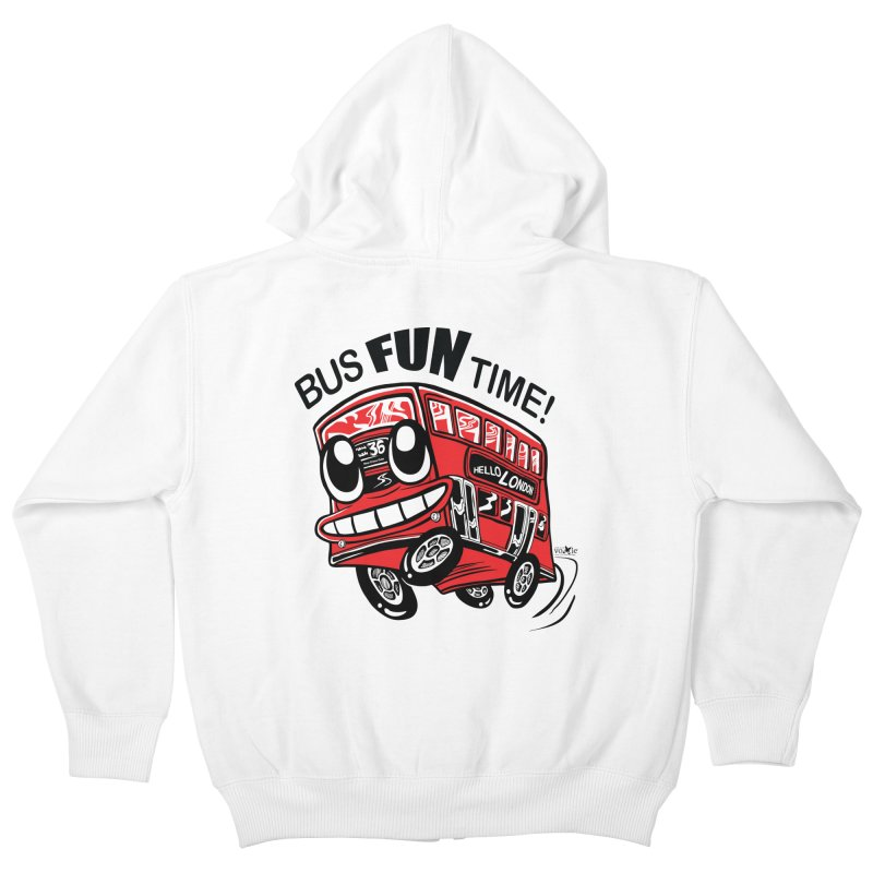 Bus Fun Time Kids Zip-Up Hoody by voxie's Artist Shop