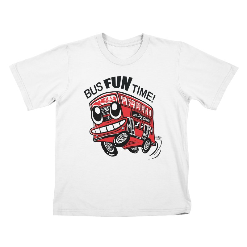 Bus Fun Time Kids T-Shirt by voxie's Artist Shop