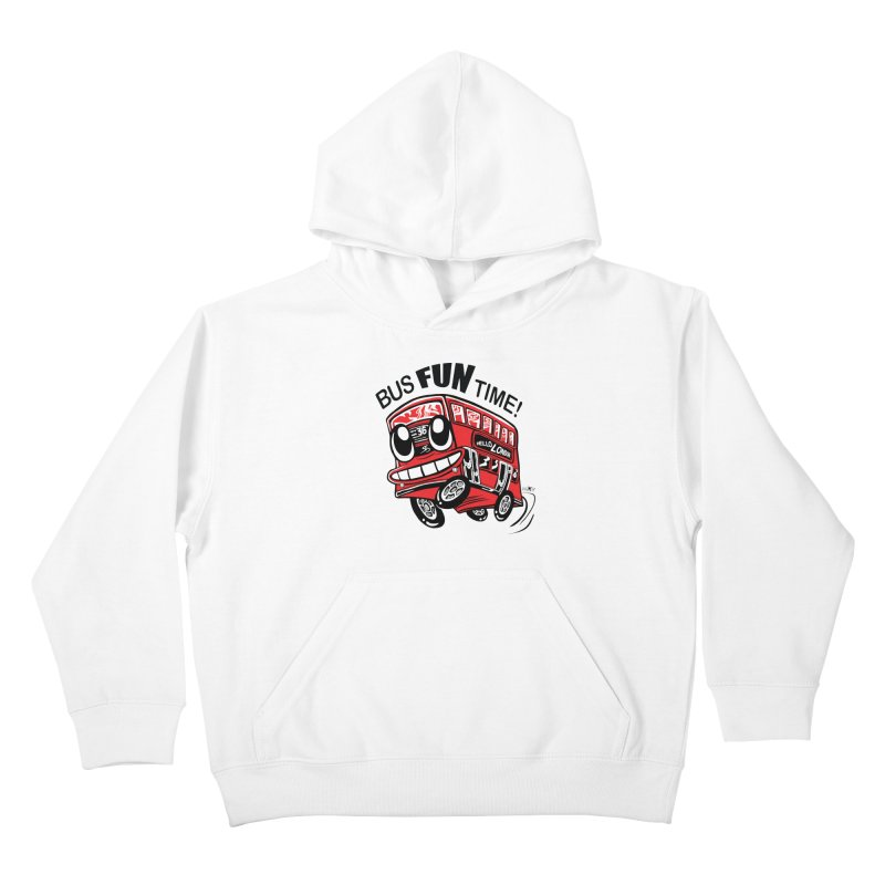 Bus Fun Time Kids Pullover Hoody by voxie's Artist Shop