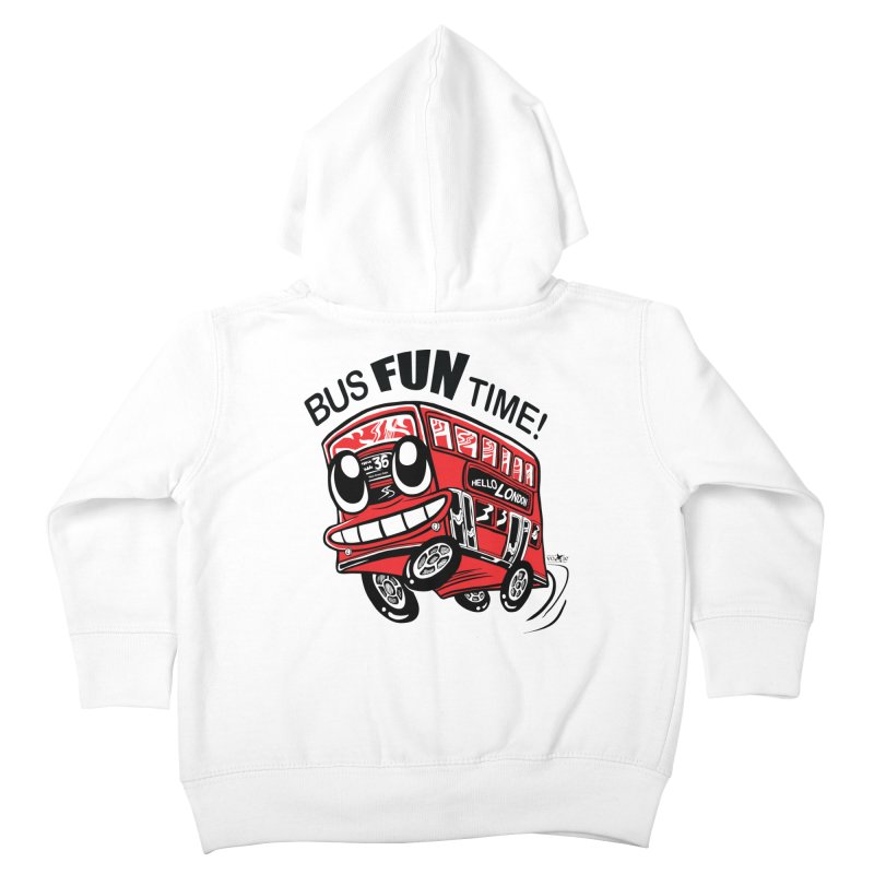 Bus Fun Time Kids Toddler Zip-Up Hoody by voxie's Artist Shop