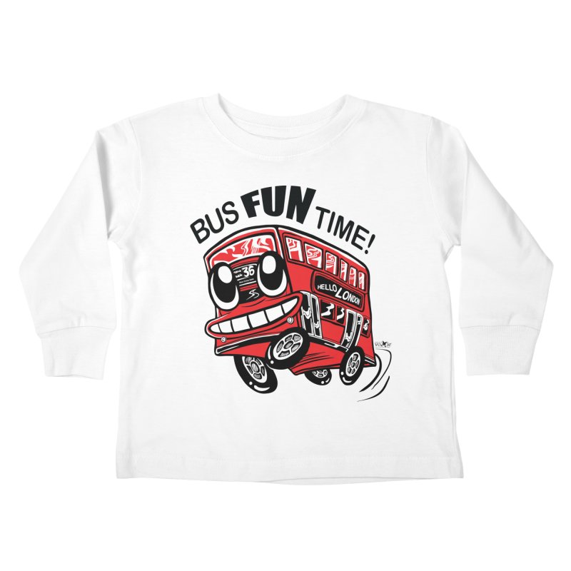 Bus Fun Time Kids Toddler Longsleeve T-Shirt by voxie's Artist Shop