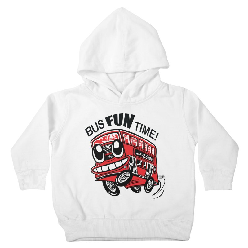 Bus Fun Time Kids Toddler Pullover Hoody by voxie's Artist Shop