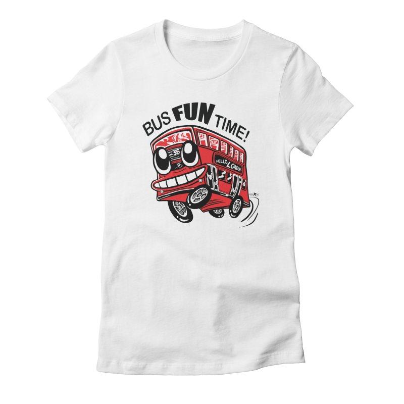 Bus Fun Time Women's T-Shirt by voxie's Artist Shop