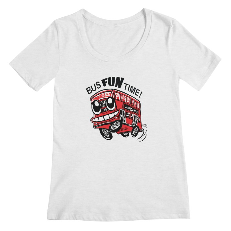 Bus Fun Time Women's Scoopneck by voxie's Artist Shop
