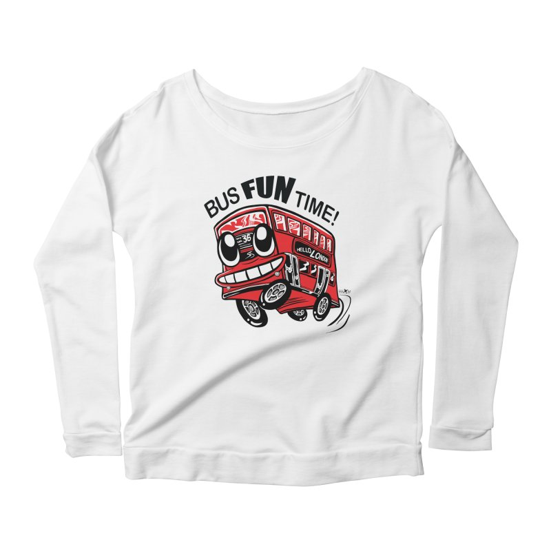 Bus Fun Time Women's Scoop Neck Longsleeve T-Shirt by voxie's Artist Shop