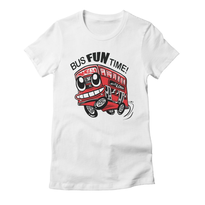 Bus Fun Time Women's Fitted T-Shirt by voxie's Artist Shop