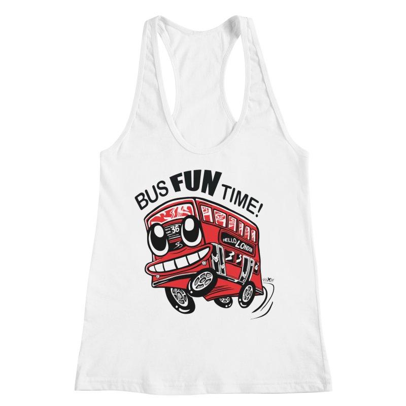 Bus Fun Time Women's Racerback Tank by voxie's Artist Shop