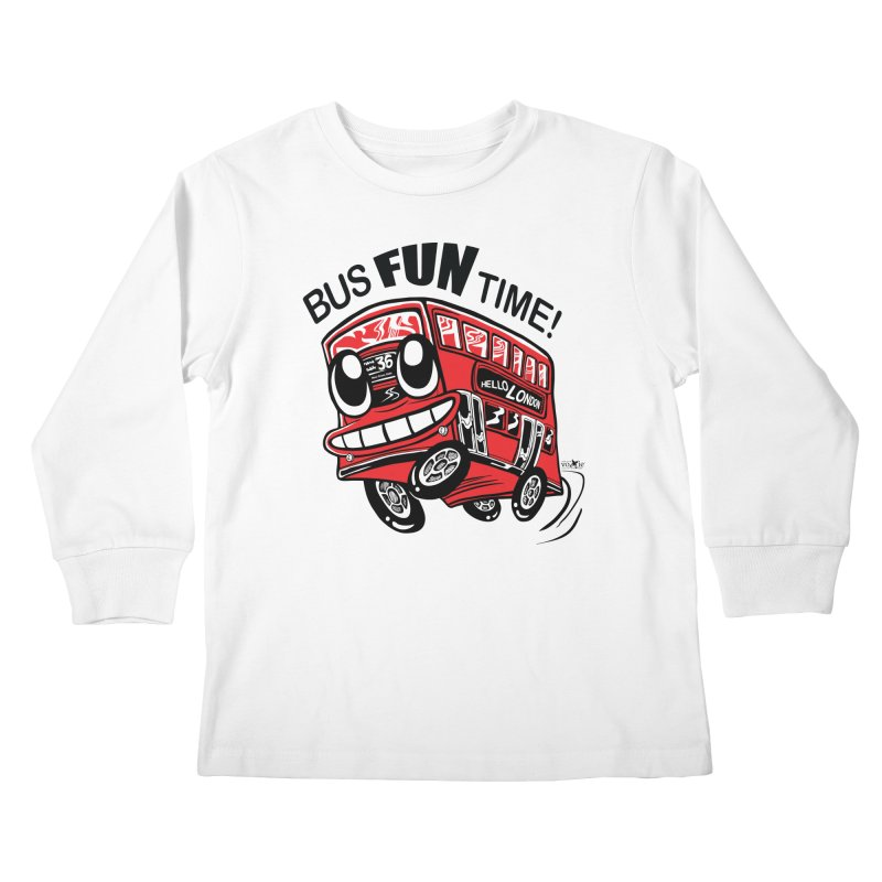 Bus Fun Time Kids Longsleeve T-Shirt by voxie's Artist Shop