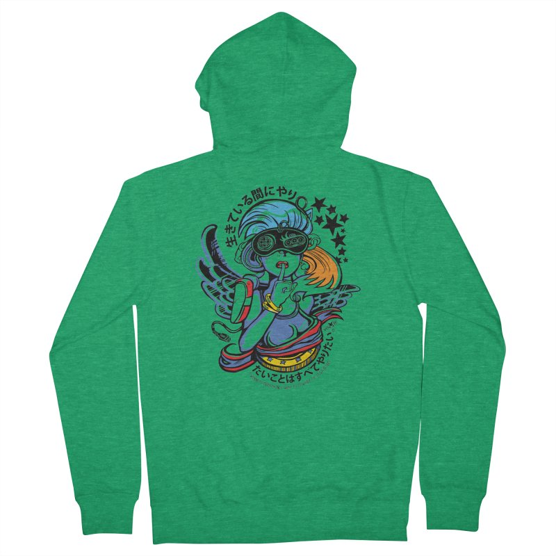 Sonic Hair 2013 Men's French Terry Zip-Up Hoody by voxie's Artist Shop