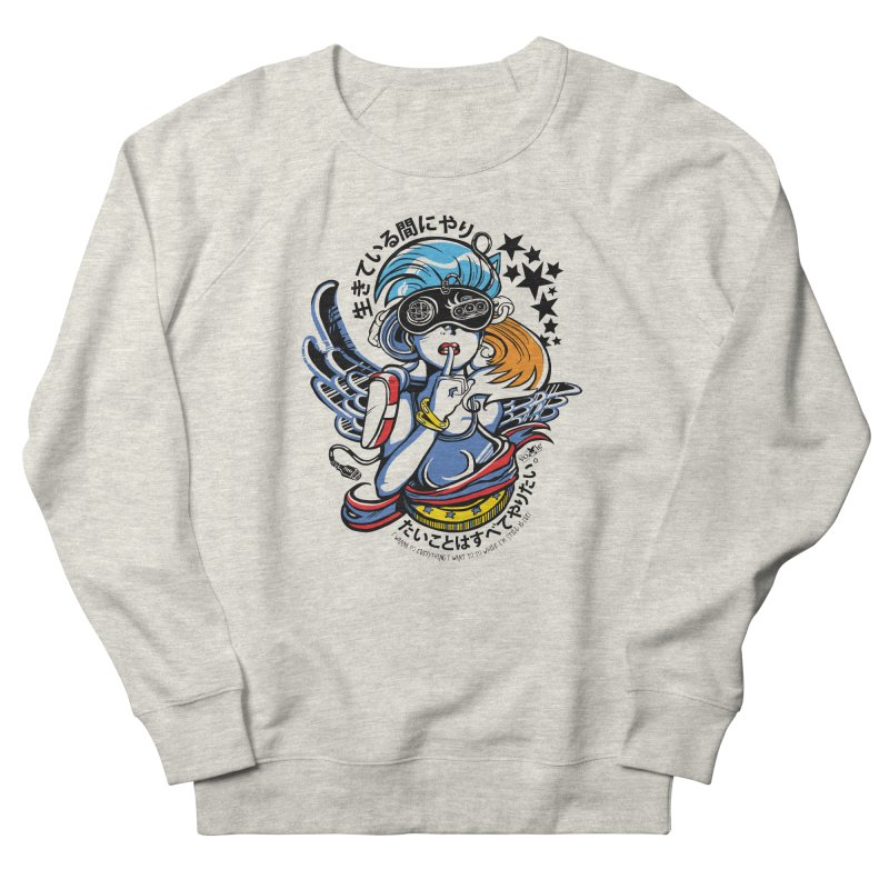 Sonic Hair 2013 Women's French Terry Sweatshirt by voxie's Artist Shop