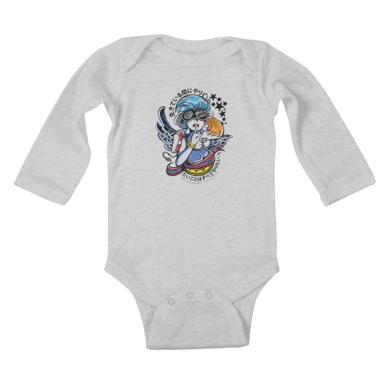 Sonic Hair 2013 Kids Baby Longsleeve Bodysuit by voxie's Artist Shop