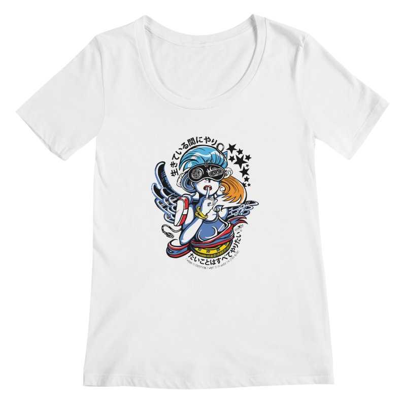 Sonic Hair 2013 Women's Scoopneck by voxie's Artist Shop