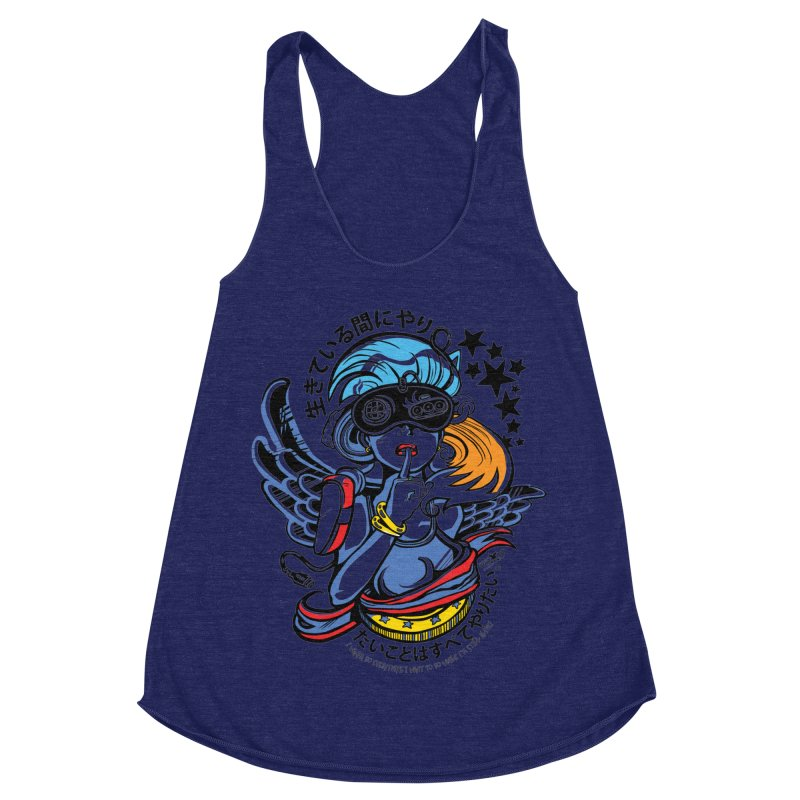 Sonic Hair 2013 Women's Racerback Triblend Tank by voxie's Artist Shop