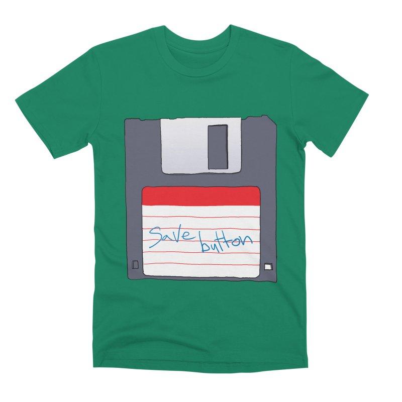 Save Button Men's Premium T-Shirt by V. P. Rigel's Intergalactic Corner!