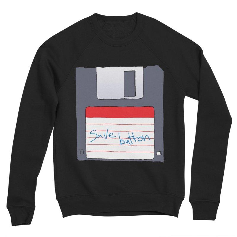 Save Button Men's Sponge Fleece Sweatshirt by V. P. Rigel's Intergalactic Corner!