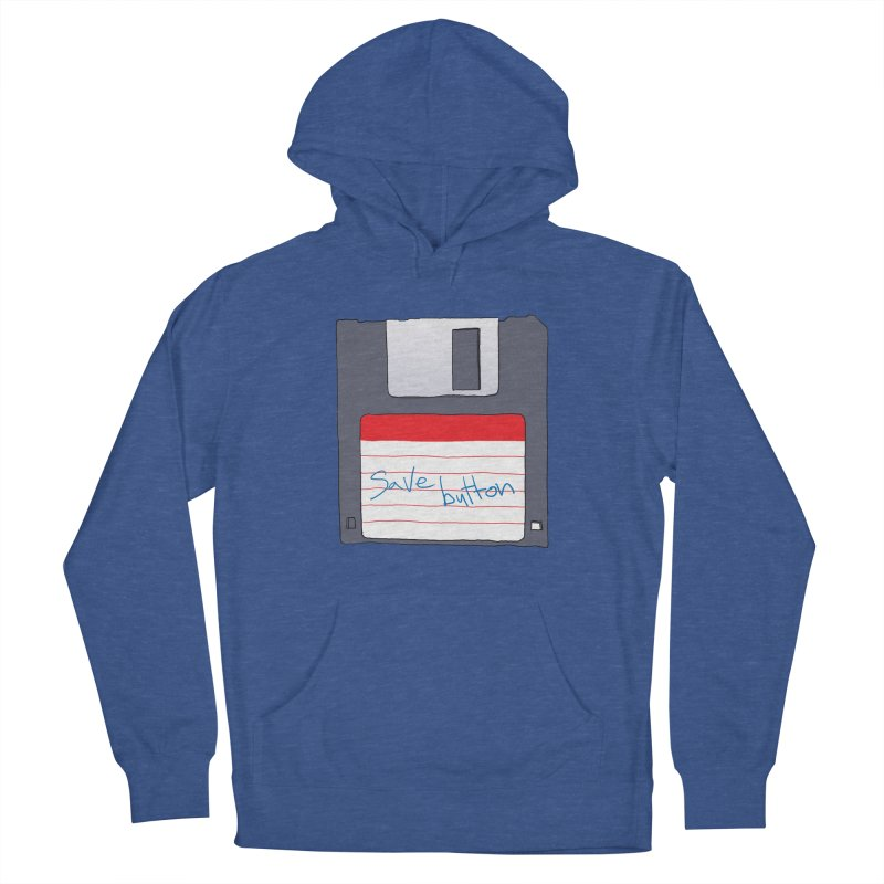Save Button Men's French Terry Pullover Hoody by V. P. Rigel's Intergalactic Corner!