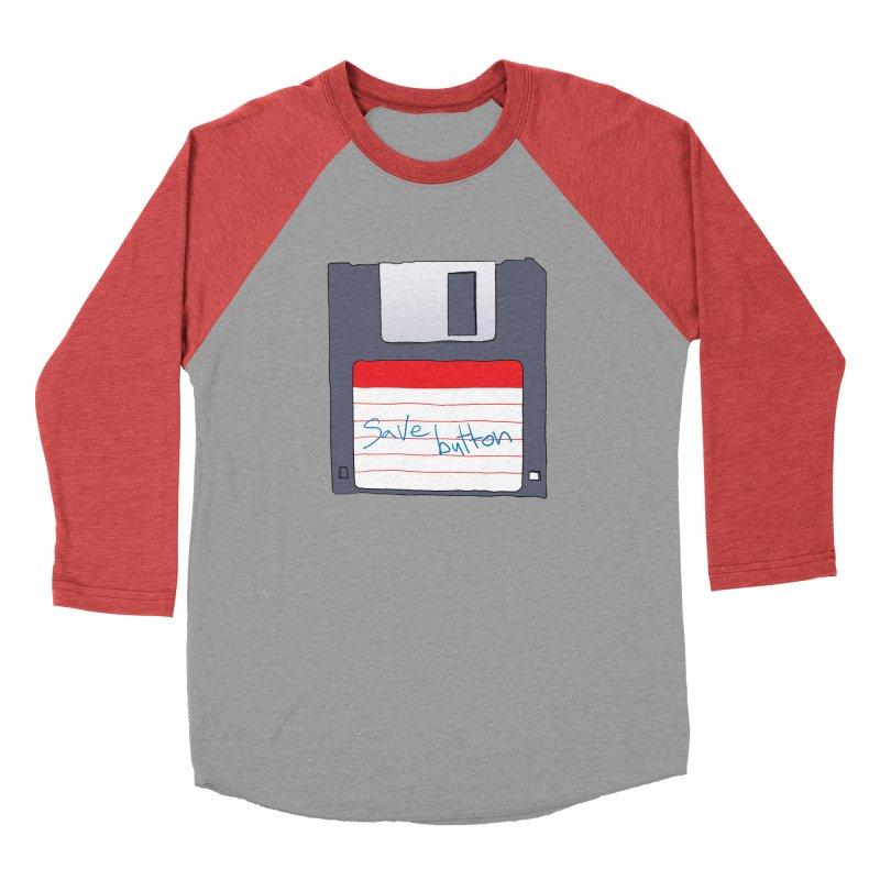 Save Button Men's Longsleeve T-Shirt by V. P. Rigel's Intergalactic Corner!