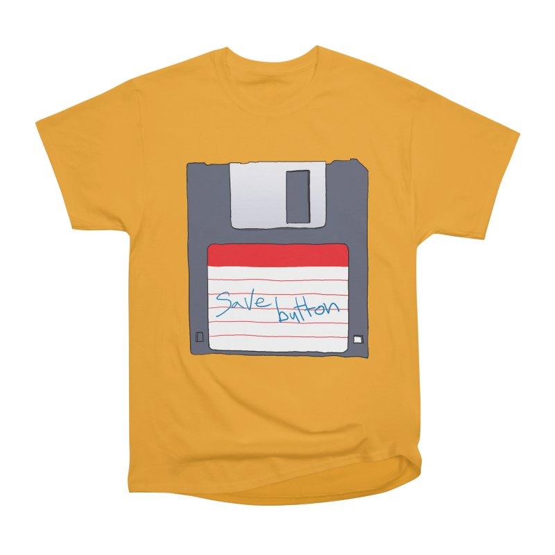 Save Button Men's Heavyweight T-Shirt by V. P. Rigel's Intergalactic Corner!