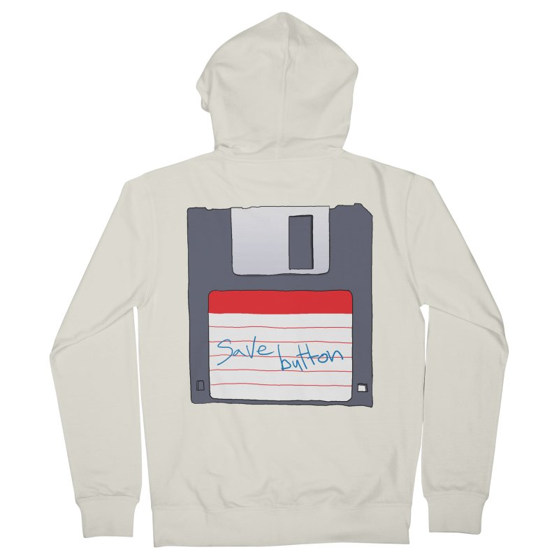 Save Button Women's French Terry Zip-Up Hoody by V. P. Rigel's Intergalactic Corner!