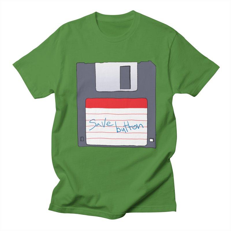 Save Button Women's Regular Unisex T-Shirt by V. P. Rigel's Intergalactic Corner!