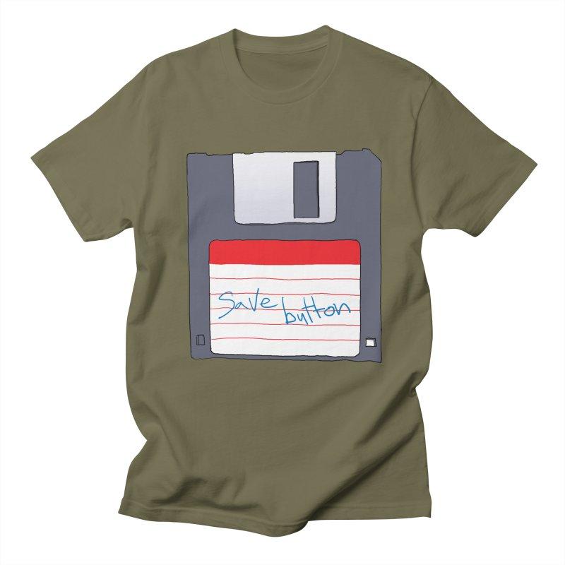 Save Button Men's Regular T-Shirt by V. P. Rigel's Intergalactic Corner!