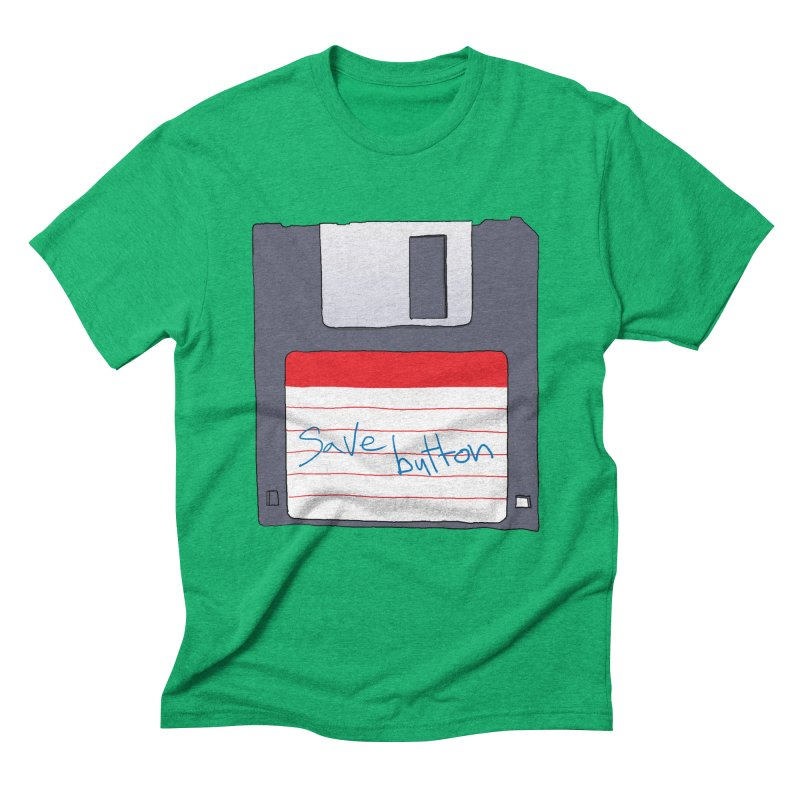 Save Button Men's Triblend T-Shirt by V. P. Rigel's Intergalactic Corner!