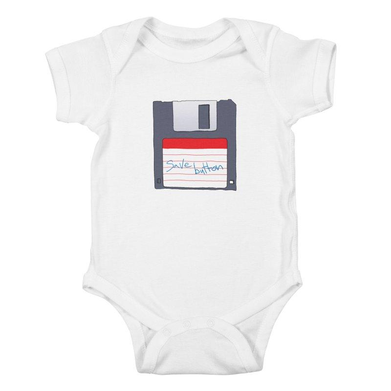 Save Button Kids Baby Bodysuit by V. P. Rigel's Intergalactic Corner!