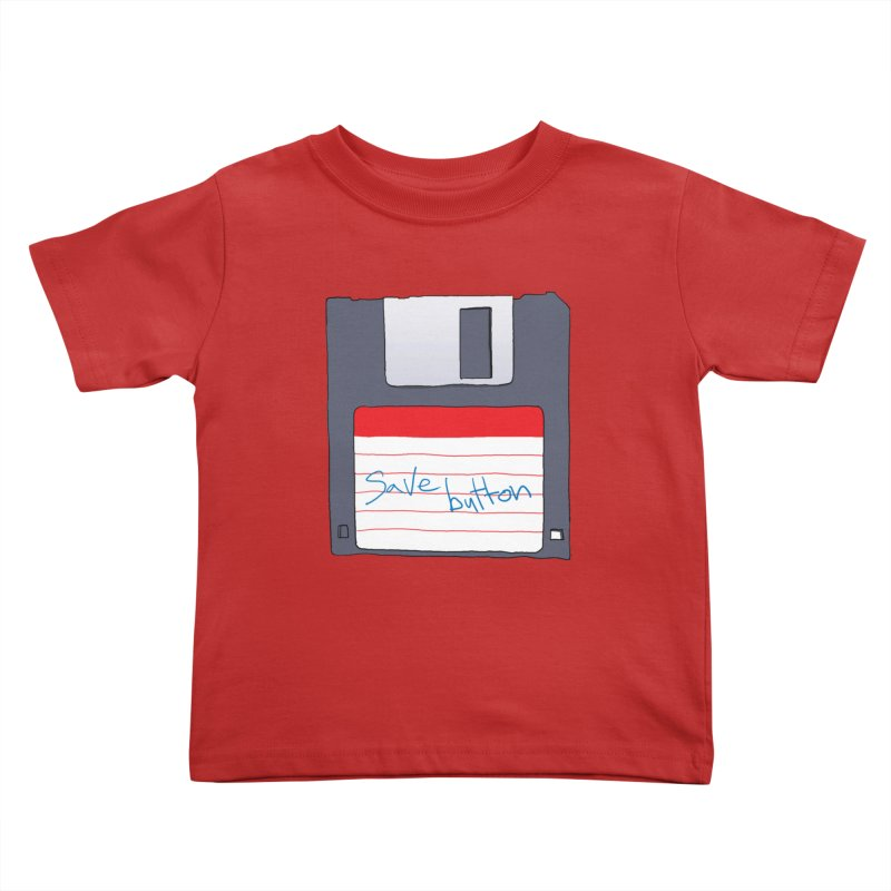Save Button Kids Toddler T-Shirt by V. P. Rigel's Intergalactic Corner!