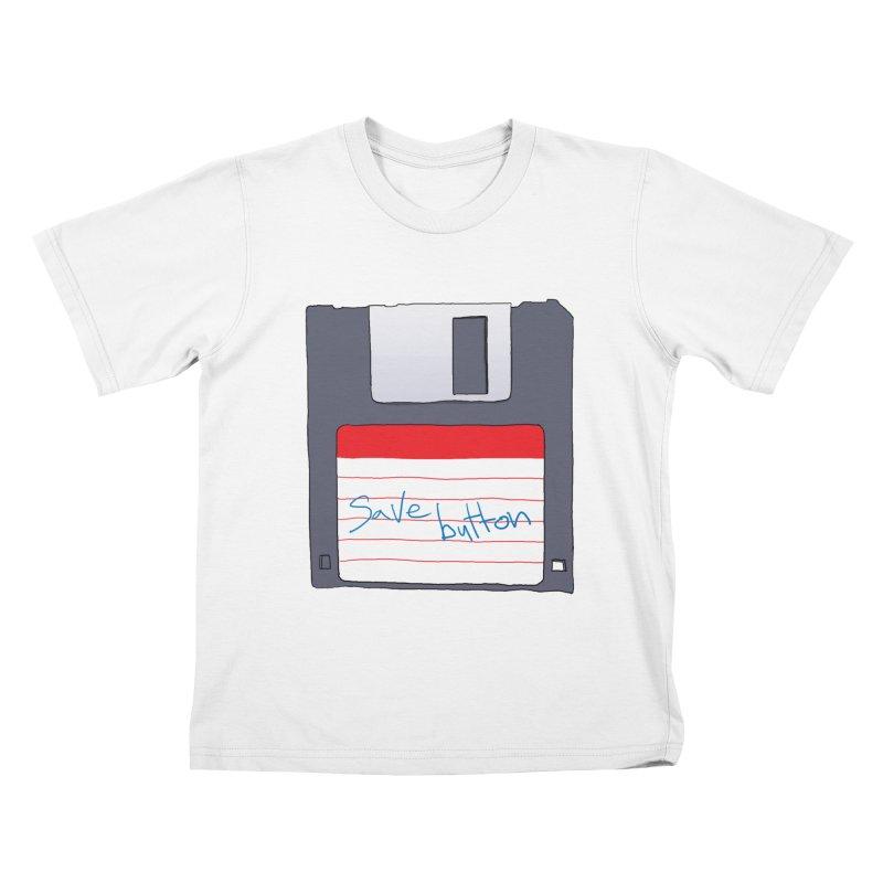 Save Button Kids T-Shirt by V. P. Rigel's Intergalactic Corner!