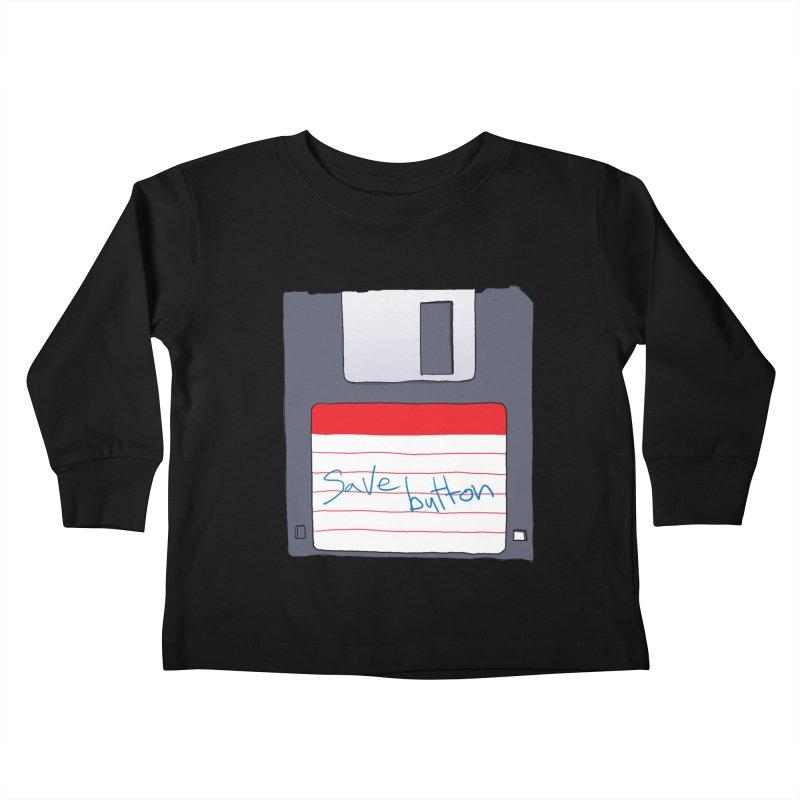 Save Button Kids Toddler Longsleeve T-Shirt by V. P. Rigel's Intergalactic Corner!