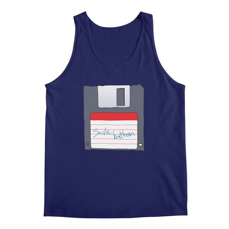 Save Button Men's Regular Tank by V. P. Rigel's Intergalactic Corner!