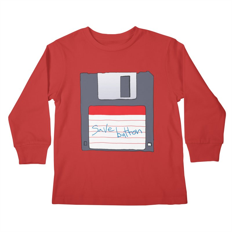 Save Button Kids Longsleeve T-Shirt by V. P. Rigel's Intergalactic Corner!
