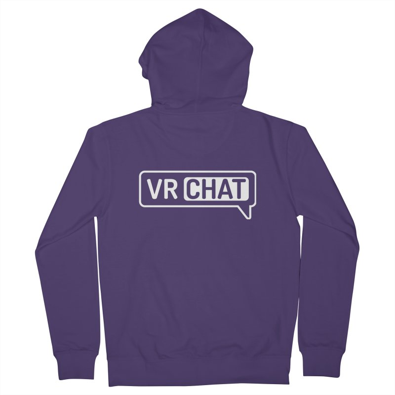 Unisex Zip Up Hoodie - Large White Logo Women's Zip-Up Hoody by VRChat Merchandise