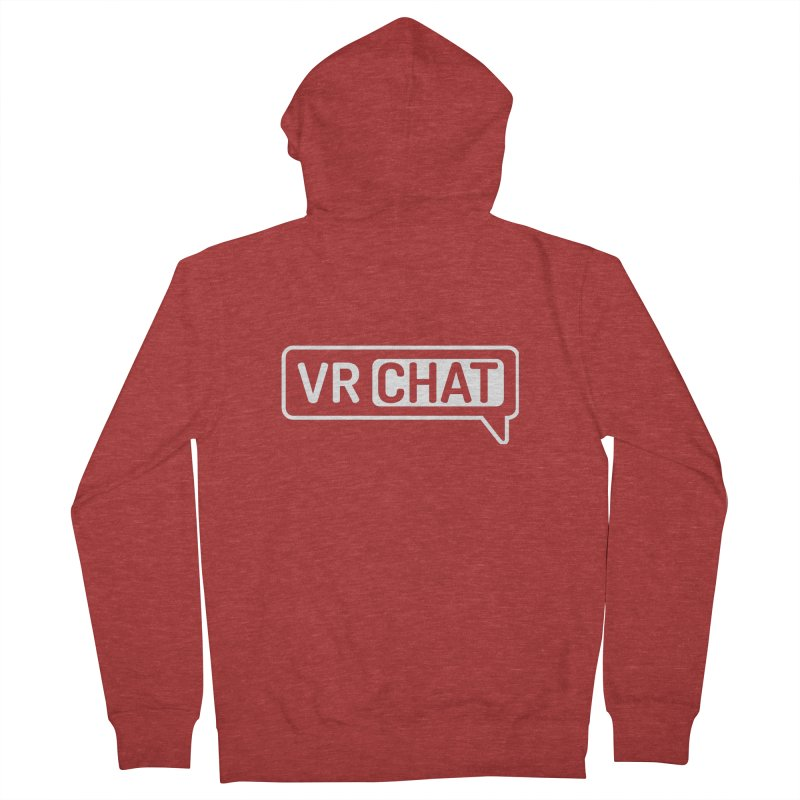 Unisex Zip Up Hoodie - Large White Logo Men's French Terry Zip-Up Hoody by VRChat Merchandise