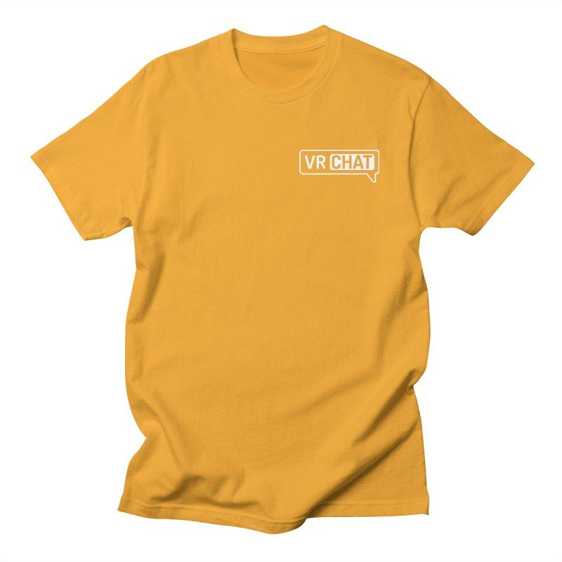 Mens Short Sleeve Shirts - Small White Logo Men's Regular T-Shirt by VRChat Merchandise
