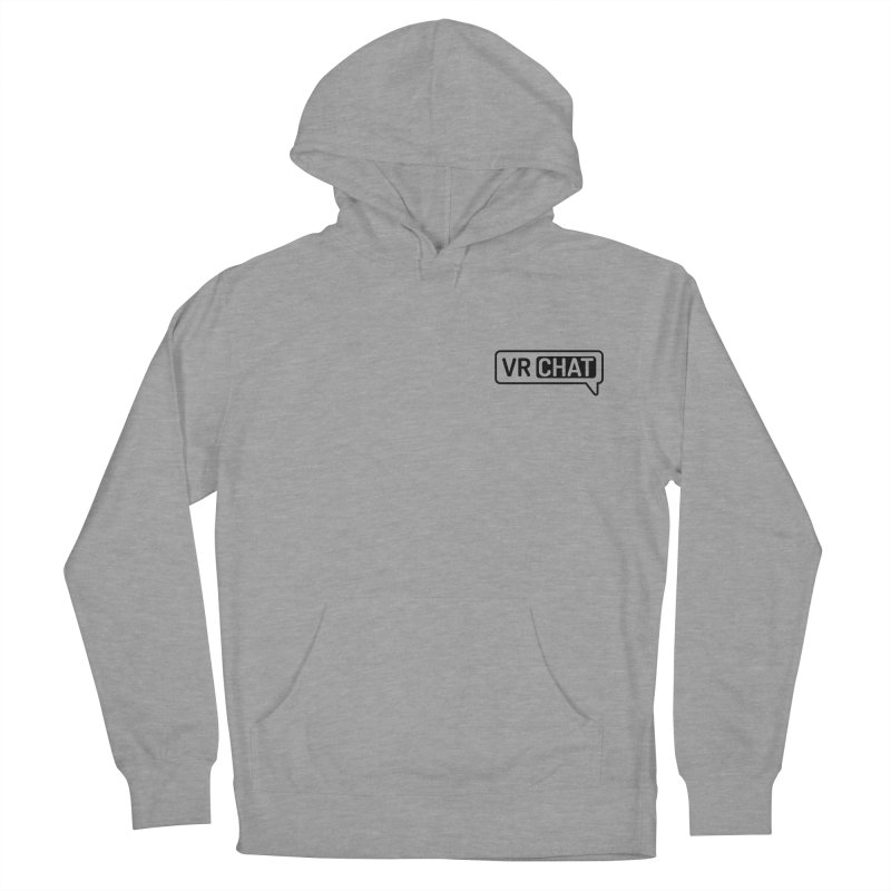 Unisex Pullover Hoodie - Small Black Logo Men's French Terry Pullover Hoody by VRChat Merchandise