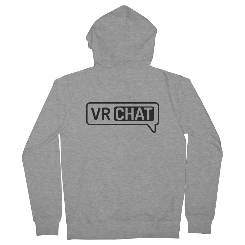 Unisex Zip Up Hoodie - Large Black Logo Men's French Terry Zip-Up Hoody by VRChat Merchandise