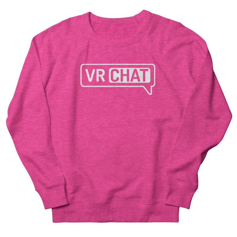 Unisex Sweatshirt - Large White Logo in Women's French Terry Sweatshirt Heather Heliconia by VRChat Merchandise