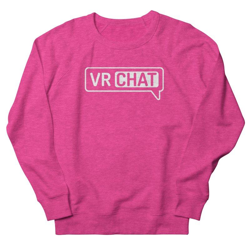 Unisex Sweatshirt - Large White Logo Men's French Terry Sweatshirt by VRChat Merchandise