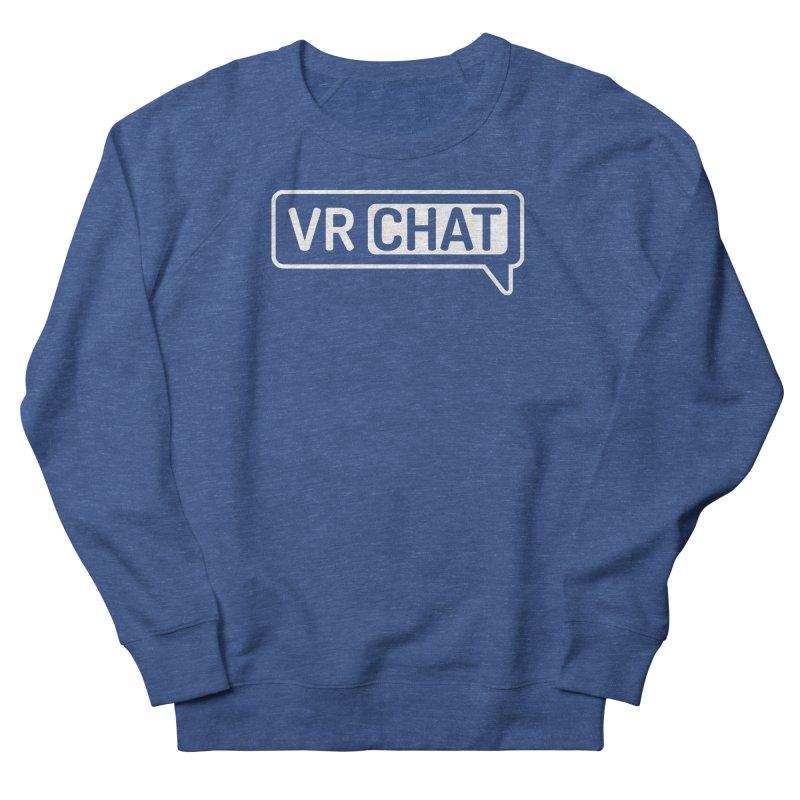 Unisex Sweatshirt - Large White Logo Men's Sweatshirt by VRChat Merchandise