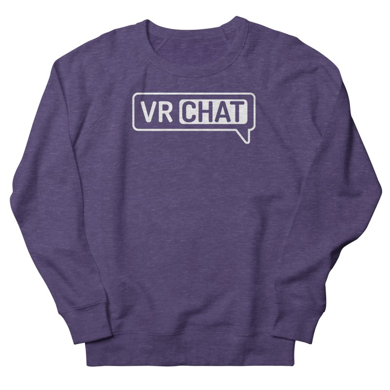 Unisex Sweatshirt - Large White Logo Women's Sweatshirt by VRChat Merchandise