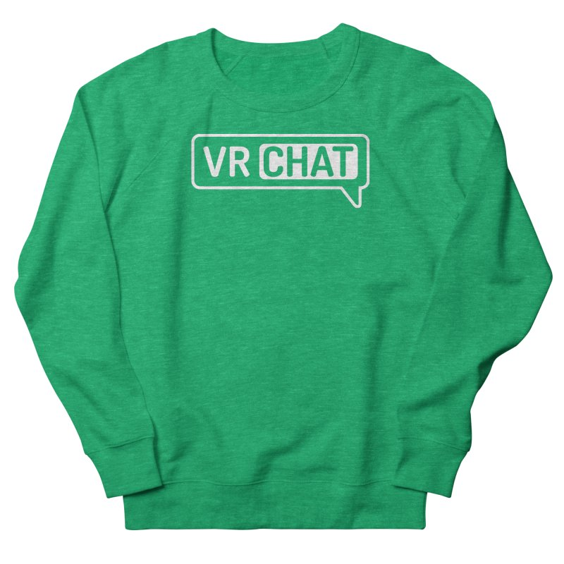 Unisex Sweatshirt - Large White Logo Men's Sweatshirt by VRChat Merchandise