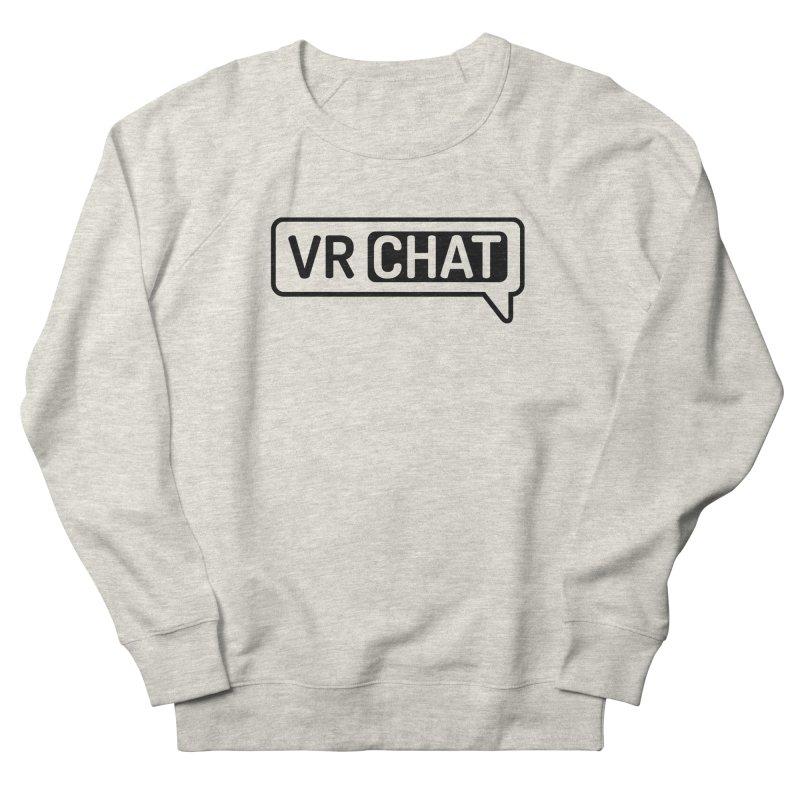 Unisex Sweatshirt - Large Black Logo Men's Sweatshirt by VRChat Merchandise