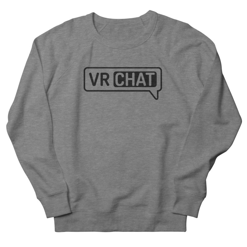 Unisex Sweatshirt - Large Black Logo Men's Sweatshirt by VRChat Merchandise