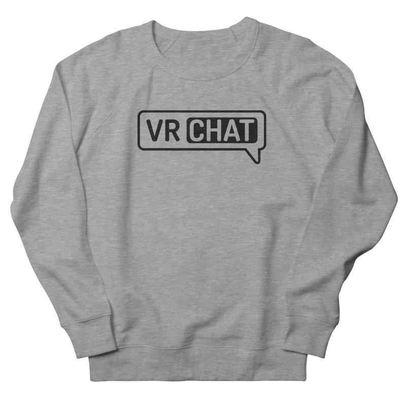 Unisex Sweatshirt - Large Black Logo Men's French Terry Sweatshirt by VRChat Merchandise