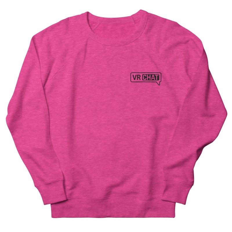 Unisex Sweatshirt - Small Black Logo Men's French Terry Sweatshirt by VRChat Merchandise