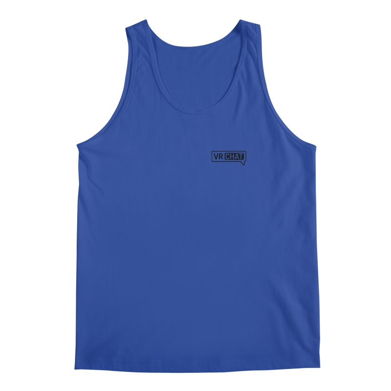 Men's Tank Tops - Small Black Logo Men's Regular Tank by VRChat Merchandise
