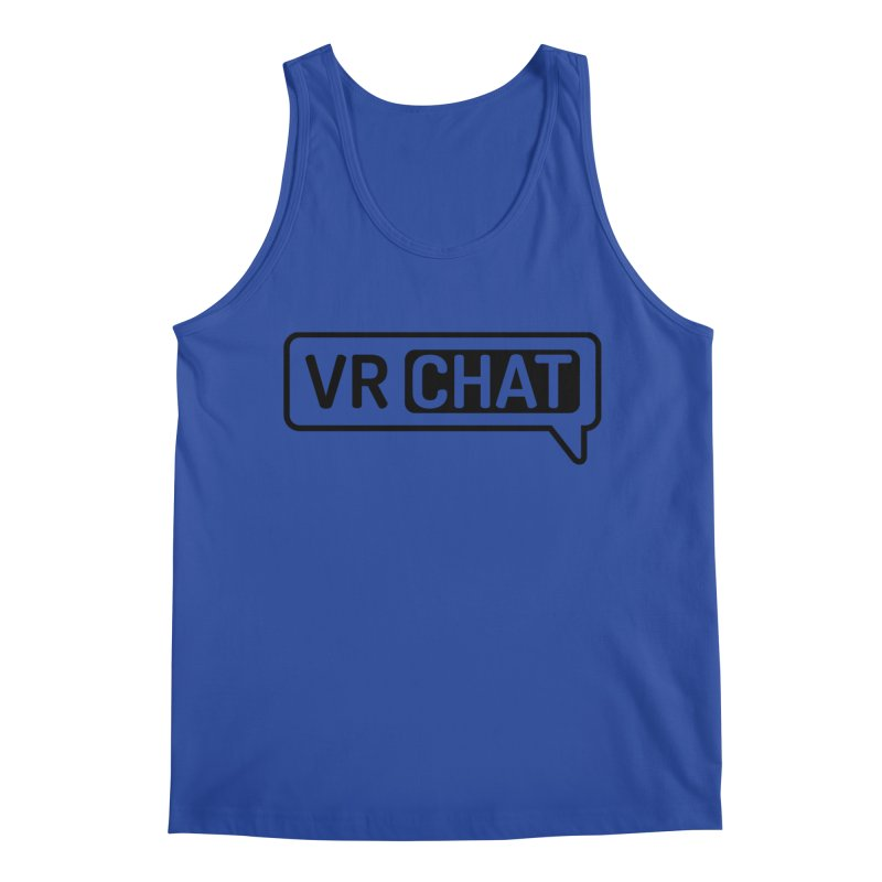 Men's Tank Tops - Large Black Logo Men's Tank by VRChat Merchandise