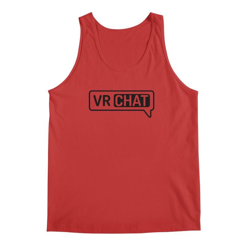 Men's Tank Tops - Large Black Logo Men's Regular Tank by VRChat Merchandise